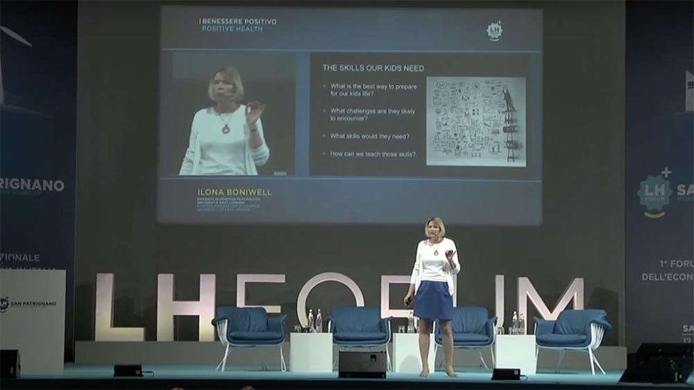 Dr Ilona Boniwell au LH Forum San Patrignano
